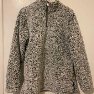 Furry Grey Teddy Sweater